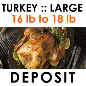 large turkey deposit