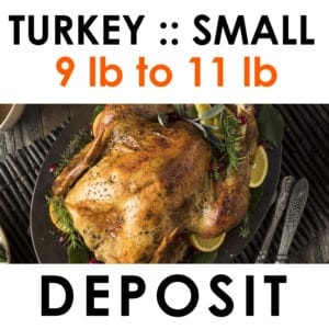 small turkey deposit